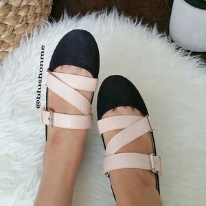 Shoes - 🎉 Sale! Strappy Buckle Flats